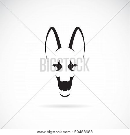Vector Image Of An German Shepherd Face