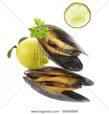 Mussels Cooked With Garlic Sauce
