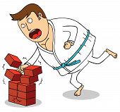 picture of karate-do  - Illustration of a man do  Karate  - JPG