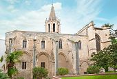 picture of avignon  - Old medieval church with small garden around it - JPG