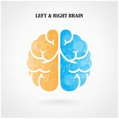 picture of left brain  - Creative left brain and right brain Idea for business concept  vector illustration - JPG