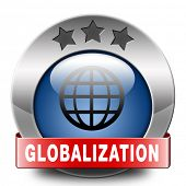 globalization global open market international worldwide trade and economy blue icon