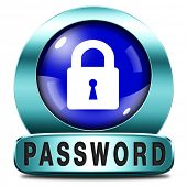 password protected icon data protection by using strong safe passwords recover and change for securi