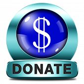 picture of word charity  - donate icon and give to charity help fund raising give and raise money donation - JPG