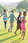 African american children running