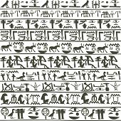 stock photo of hieroglyph  - Egyptian hieroglyphics background - JPG
