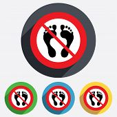 picture of flat-foot  - Human footprint sign icon - JPG