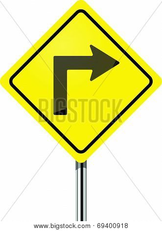 Turn right traffic sign