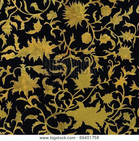 Seamless floral pattern in renaissance style.
