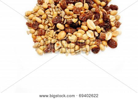Nutty Trail Mix With Copy Space