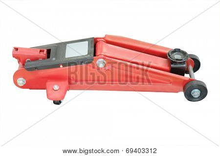 car repair lifting jack under the white background