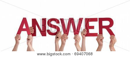 People Holding Answer