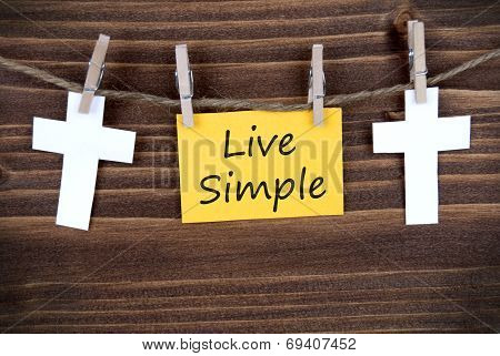 Live Simple On A Yellow Tag