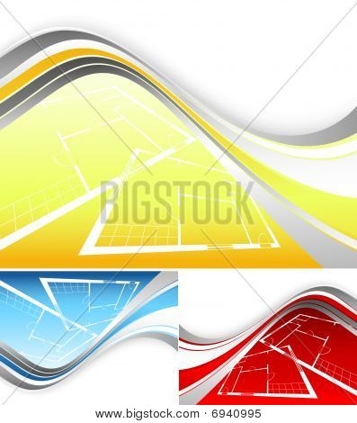 Vector Backdrop Set