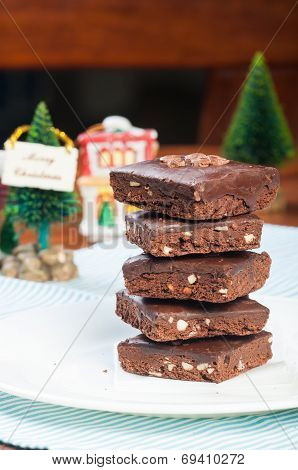 chocolate coated brownies