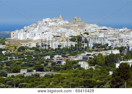 View of the old town Ostuni