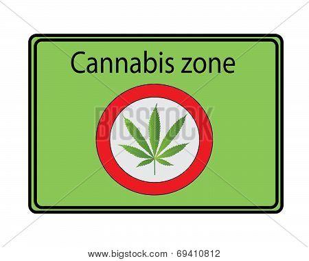 Cannabis zone sign - green