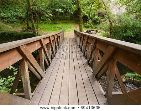 Brige In A Park Outdoors