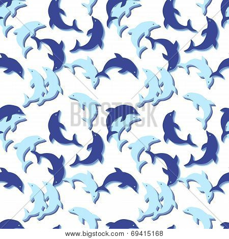 Seamless Dolphin Pattern