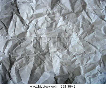 Texture Of Crumpled Paper. Vector Illustration