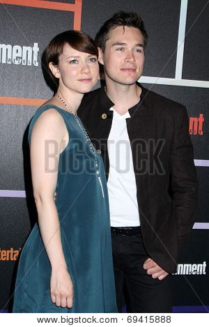 SAN DIEGO - JUL 26:  Valorie Curry, Sam Underwood at the Emtertainment Weekly Party - Comic-Con International 2014 at the Float at Hard Rock Hotel San Diego on July 26, 2014 in San Diego, CA