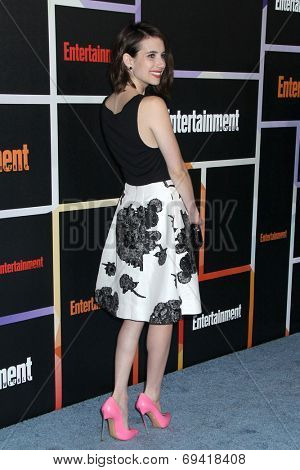 SAN DIEGO - JUL 26:  Emma Roberts at the Emtertainment Weekly Party - Comic-Con International 2014 at the Float at Hard Rock Hotel San Diego on July 26, 2014 in San Diego, CA