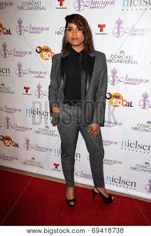 LOS ANGELES - AUG 1:  Monica Raymund at the Imagen Awards at the Beverly Hilton Hotel on August 1, 2014 in Los Angeles, CA