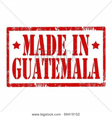 Made In Guatemala-stamp