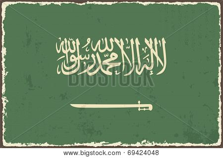 Saudi Arabia grunge flag. Vector illustration