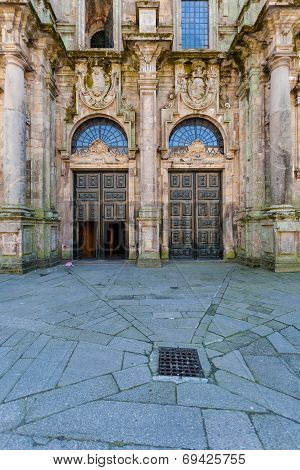 Santiago De Compostela Cathedral North Double Door Entrance