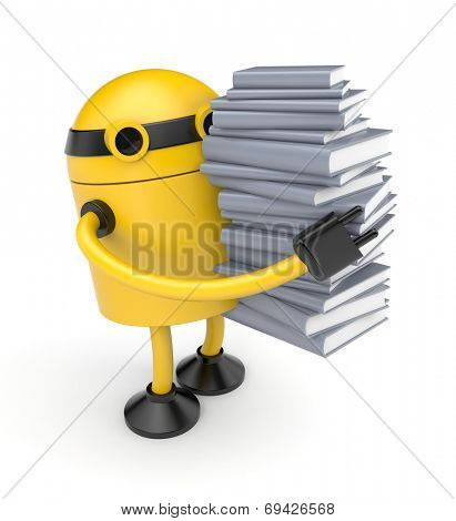 Robot with books