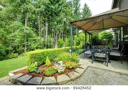 Backyrd Gazebo With Patio Area