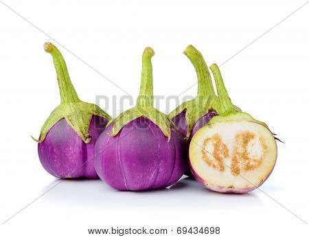 Egg Plant Isolated On White Background