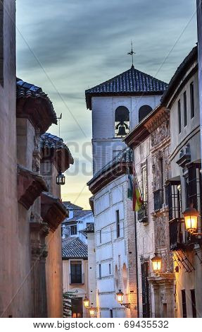 Walking Street Church Iglesia Durante Albaicin Granada Anadalusia Spain