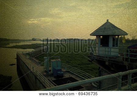 Landscape Of Chaopraya Dam Thailand