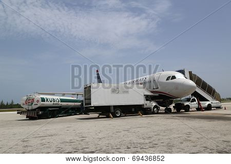 US Airways at Owen Roberts International Airport at Grand Cayman