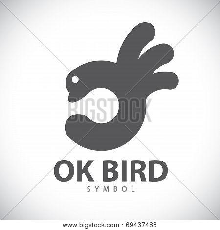 Ok Bird Symbol Icon