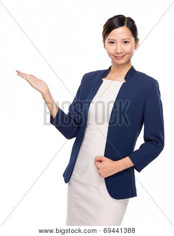 Asian young woman present