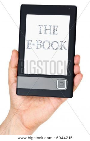 Modern Ebook Reader In Hand