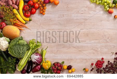 Superfoods background