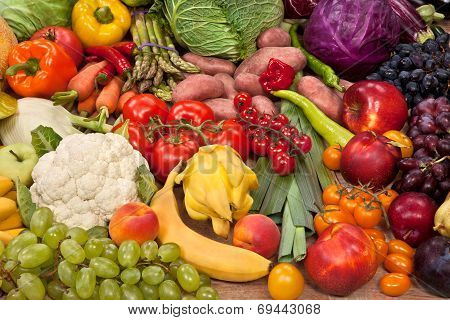 Healthy natural food background