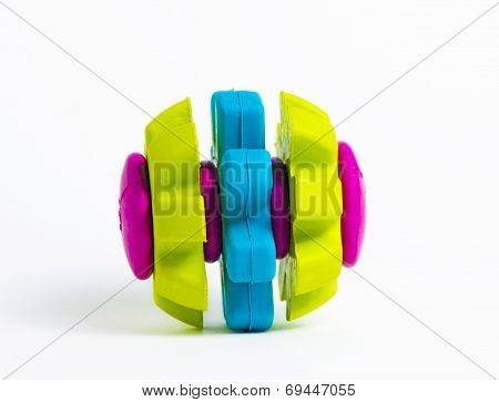 Vivid Coloured Rubber Toy Isolated