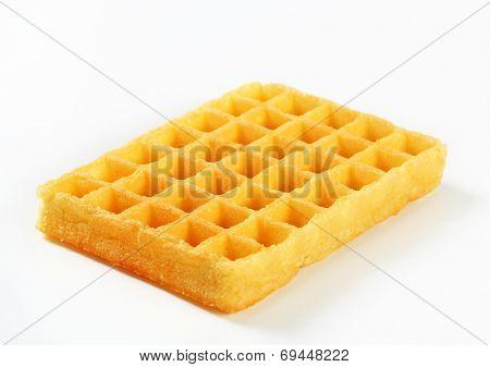 Studio shot of Belgian waffle
