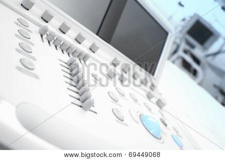 Modern Medical Equipment. Fragment Of Echo Machine