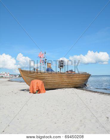 Beach of Binz,Ruegen Island,Germany