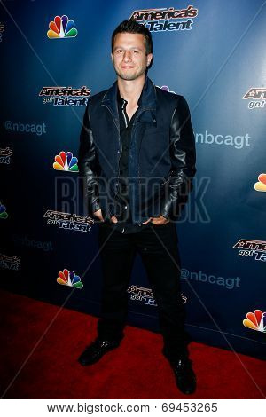 NEW YORK-JUL 30: Magician Mat Franco attends the 'America's Got Talent' post show red carpet at Radio City Music Hall on July 30, 2014 in New York City.