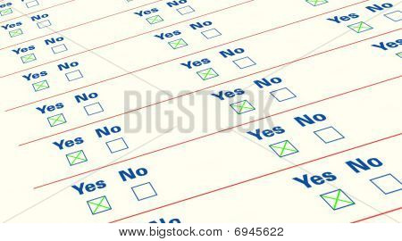 Questionnaire Empty List, Isolated