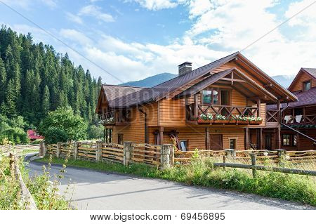 Hotel In Carpathian Mountains. Ukraine.