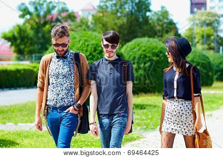 Friends Walking On The Street, Youth Culture