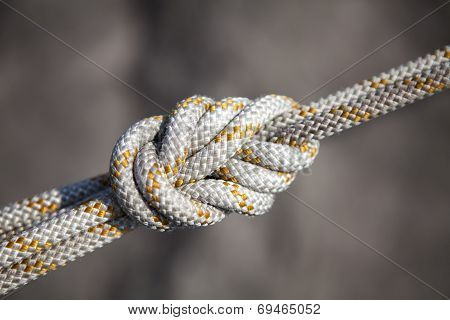 Safety knot white rope